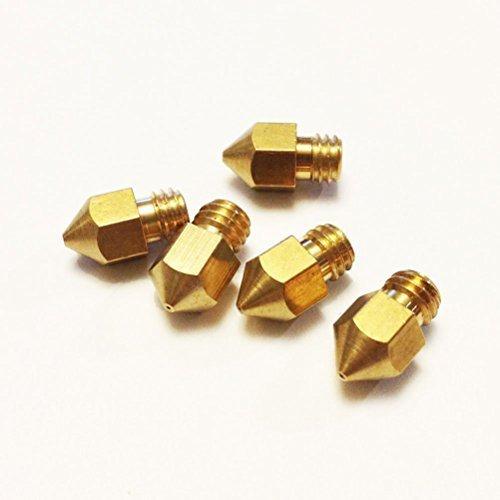 8 opinioni per Tinksky 5pcs 0,4 mm Estrusore ugelli in ottone per stampante 3D (d'oro)