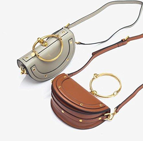 Mesdames transparente Chaîne sac épaule petit Bag simple carré Messenger pRIpfq