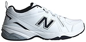 New Balance Men's MX608v4 Training Shoe, White/Navy, 11 D US