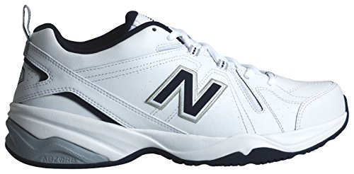 New Balance Men's MX608v4 Training Shoe, White/Navy, 9 D US