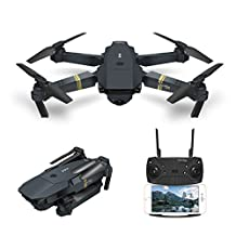 Drone With Camera Live Video, EACHINE E58 WIFI FPV Quadcopter With 2MP Wide Angle Camera Altitude Hold Mode Foldable APP Control Pocket Drone RTF