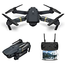 Drone With Camera Live Video, EACHINE E58 WIFI FPV Quadcopter With 120° Wide-angle 720P HD Camera Foldable Drone RTF - Altitude Hold, One Key Take Off/Landing, 3D Flip, APP Control , Gravity Sensor