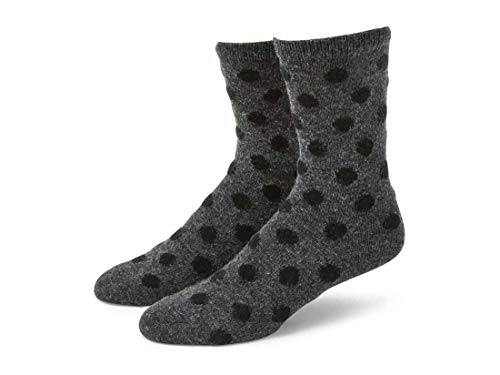 b.ella Bea Women's Cashmere Blend Polka Dot Pattern Sock ( Granite – Medium )