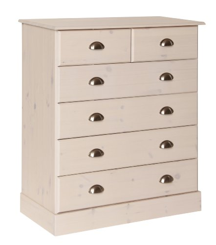 Furniture To Go Terra 4 Plus 2-Drawer Chest, 91 x 82 x 39 cm, Whitewash Pine by Furniture 2 Go