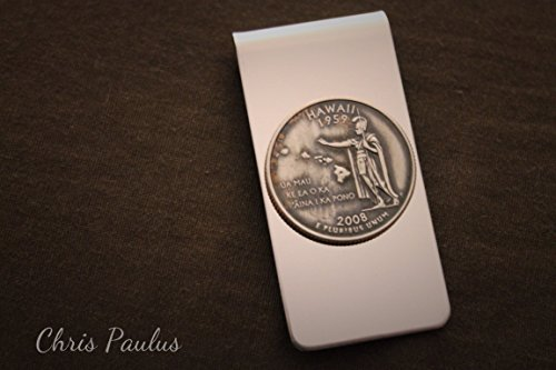 Money Clip featuring Hawaii State Quarter (Clip Keepsake Money)