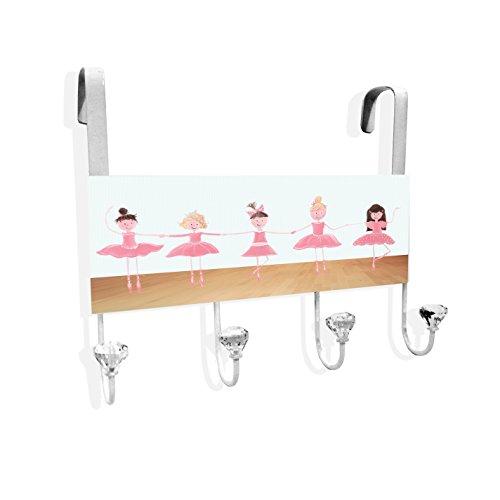 Stupell Home Décor Ballerinas En Pointe Over The Door Hanger, 12 x 10.5 x 2, Proudly Made in USA ()