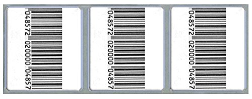 Image of Checkpoint Compatible 8.2 MHz RF Label 33x38mm, Fake Barcode, 1 Box of 20K Anti-Theft Equipment
