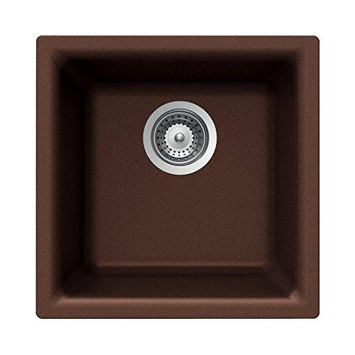 Houzer EURO N-100 COPPER Euro Series Undermount Granite Single Bowl Bar/Prep Sink, Copper ()