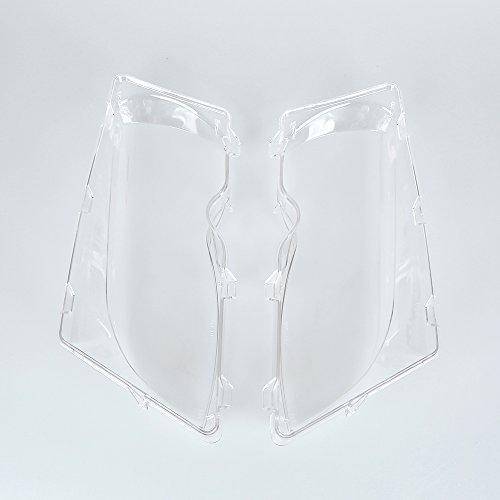 Left & Right Headlight Lens Polycarbonate Cover Set 2001-2006 BMW E46 320i/ 325i/ 325xi/ 330i/330xi (Clean Headlight Lens)