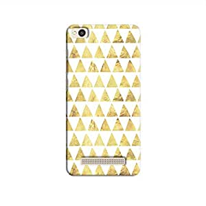 Cover It Up - Gold White Triangle Tile Redmi 4A Hard Case