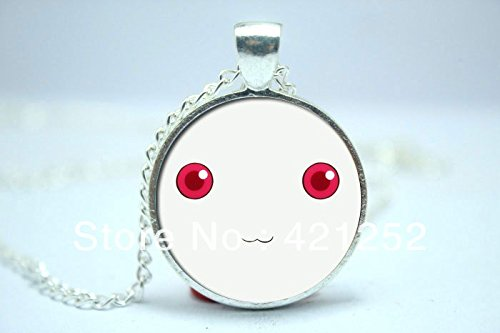 Cards Filigree Christmas (Pretty Lee 2015 Fashion Madoka Kyubey Glass Cabochon Dome Pendant Christmas gift)