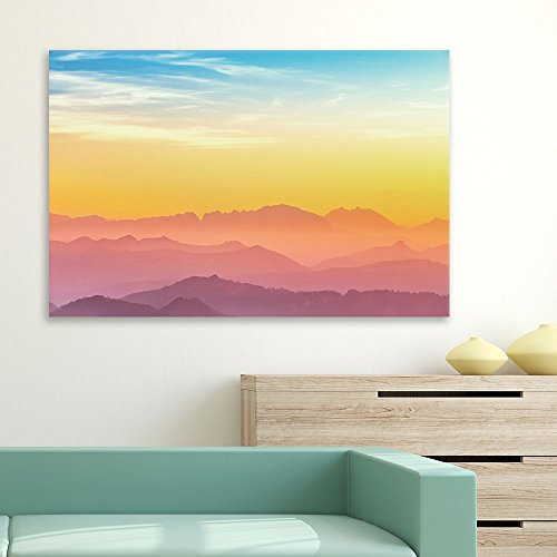 Mountain Ranges at Sunset Gallery