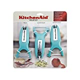 KitchenAid Classic Euro Peeler, Set of 3 Aqua Sky