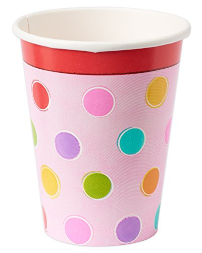 Sweet Stuff Dots and Stripes Birthday Party Paper Cups , Pack of 8, Multi , 9 Ounces, Paper (Party Stuff Online)