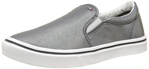 Metallic 403 Femme On Slip Hilfiger Bleu Basses Light midnight Weight Tommy Sneakers fXp8xP5qXn