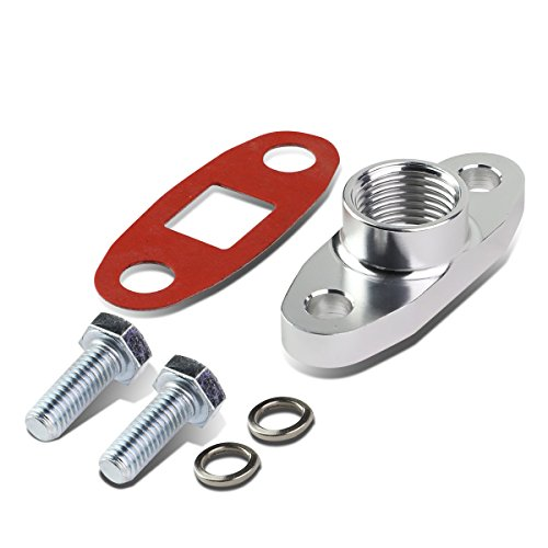 Pump The Rbk - T3 / T4 Turbocharger Billet Aluminum Oil Drain Fitting 5/8 inches + Gasket & Bolts