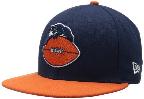 NFL Chicago Bears Historic Logo 59Fifty Fitted Cap, Blue/Orange, 6 7/8