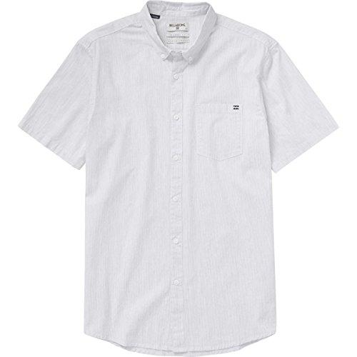 (Billabong Men's All Day Texture Short Sleeve Woven Shirt, White, Small)