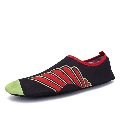 buceo aire al S playa rojo y de deportes libre 169 suave multi Zapatos funcional natación transpirable de ala zapatos Lucdespo elástica Xn1q48SI