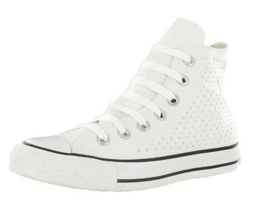 - Converse Ct A/s Spec Hi White/Silver Sz 4 M/6 W