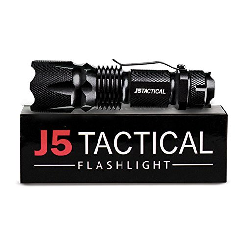 J5 Tactical V1-Pro Flashlight - The Original 300 Lumen Ultra Bright LED Mini 3 Mode Flashlight