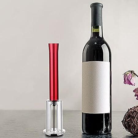 YeenGren Sacacorchos Presion Aire, Abridor de Vino Profesional, Abrebotellas Vino Regalo, Abridor de Vino Camarero, Fácil de Abrir Rápido Sacacorchos Mini (Rojo)