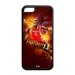 Newly Designed iPhone 5C TPU Case with Houston Rockets James Harden Image for NBA Fans-by Allthingsbasketball