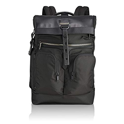 affordable TUMI - Alpha Bravo London Roll Top Laptop Backpack - 15 Inch Computer Bag for Men and Women - Black