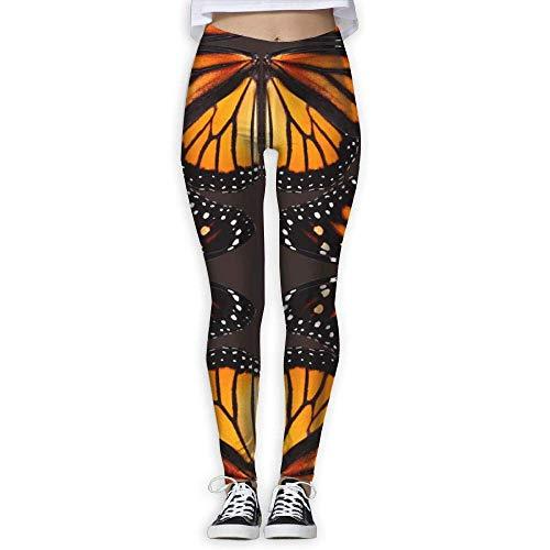 lihewind Orange Monarch Butterfly Wings Woman Athletic Leisure Yoga Pants Leggings Sweatpants