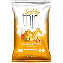 Sinfully Thin Popcorn Jamaican Jerk Popcorn With Caribbean Spices, 1.8 Ounce, 6 Count