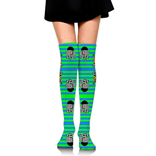 Guoxichangtuiwa Roller Derby Animals Women's Girl's Breathable Cotton Comfortable Fashion Over The Knee High Leg Athletic Thigh Highs Socks,Cosplay Socks