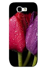 Durable Waterdrop Protector Case Cover With Tulip Color Spectrum Hot Design For Galaxy Note 2 (ideal Gift For Lovers)