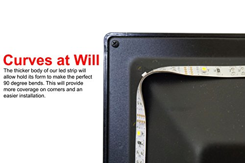 SPE Bias Lighting for HDTV - Medium (78in / 2m) - 6500k Cool White - USB LED Backlight Strip for Flat Screen TV LCD, Desktop Monitors