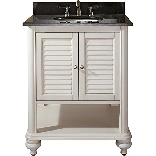 Avanity Tropica 24 in. Vanity with Black Granite Top and Sink in Antique White finish Review