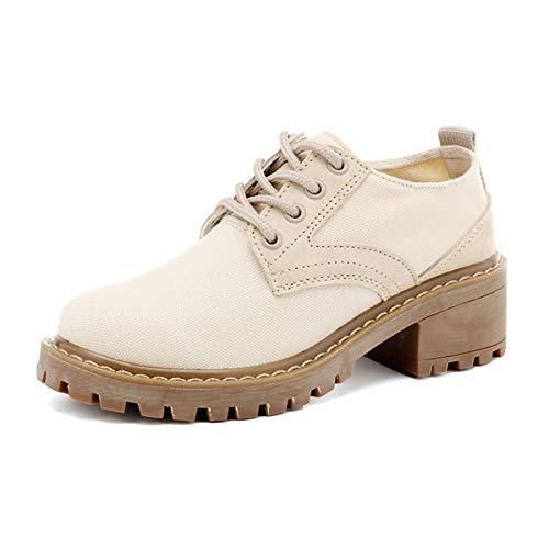 Martin 35 Color Salvaje Moda rudo color 4cm Zapatos sand KOKQSX con Lona de 37 SxHgARq4
