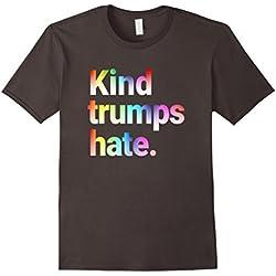 Mens Kind Trumps Hate Anti-hate Love Rainbow LGBT T Shirt Small Asphalt