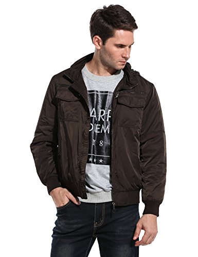 Coofandy Collar Quilted Bomber Jacket product image