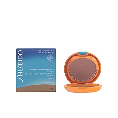 Tanning Compact Foundation N SPF6 - Bronze by Shiseido for Women 0.4 ounce Foundation - Shiseido Sheer Lipstick