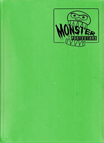 Monster Binder - 9 Pocket Trading Card Album - Matte Emerald Green (Anti-theft Pockets Hold 360+ Yugioh, Pokemon, Magic the Gathering Cards) by MONSTER BINDERS