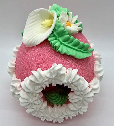 Sugar Egg Handcrafted Easter Decoration - Medium Decorative Panoramic Pink