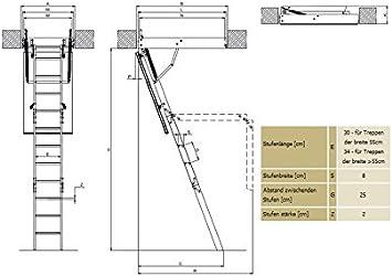 FAKRO - Escaleras de suelo LWS Smart 60 x 120 x 280: Amazon.es: Bricolaje y herramientas