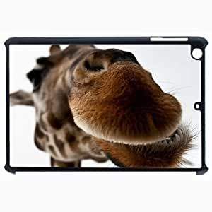 Customized Back Cover Case For iPad Air 5 Hardshell Case, Black Back Cover Design Giraffe Personalized Unique Case For iPad Air 5