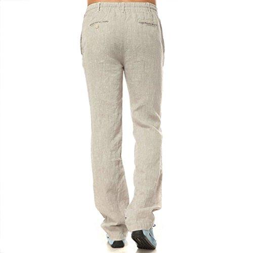 Najia Naturale Vita Symbol Pantaloni Coulisse Casuale 286 In Lino 100 Uomo TpT4qnr