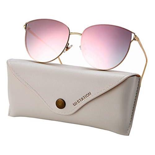 Oversized Sunglasses for Women, Mirrored Cat...
