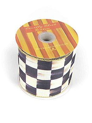 MacKenzie-Childs Courtly Check 4'' Ribbon 4'' W X 10 yards H