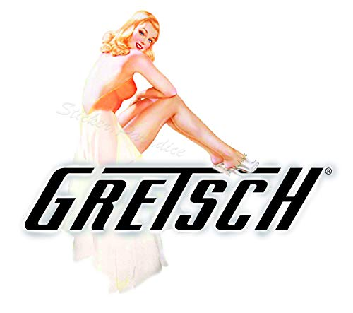 Gretsch Sticker Sexy Pinup Girl 001 Great for Guitar AMP Toolbox Sexy Pinup Girl Decals Laptop Mirror
