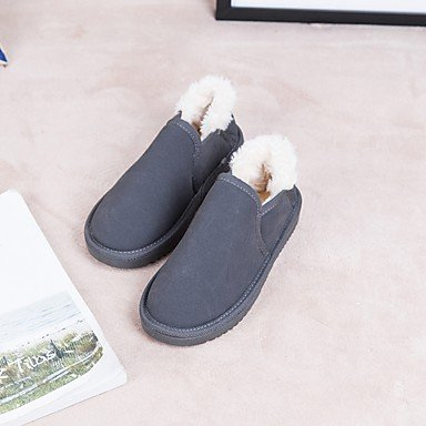 SHAOYE Mujer Zapatos Ante Invierno Botas de nieve Botas Tacón Plano Dedo redondo Para Casual Vestido Negro Beige Gris Rosa Caqui , gray , us8 / eu39 / uk6 / cn39 us8 / eu39 / uk6 / cn39|gray