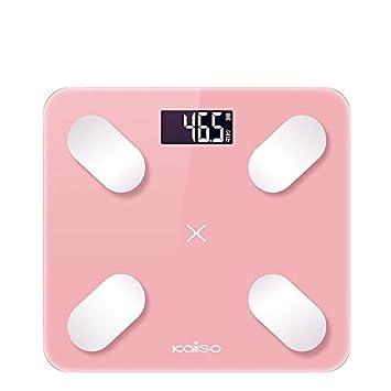 Zhrui Básculas de pesaje Persona Básculas de pesaje Persona Digital Profesional Bluetooth Smart Rosa Báscula de pesaje Aplicación para persona digital: ...