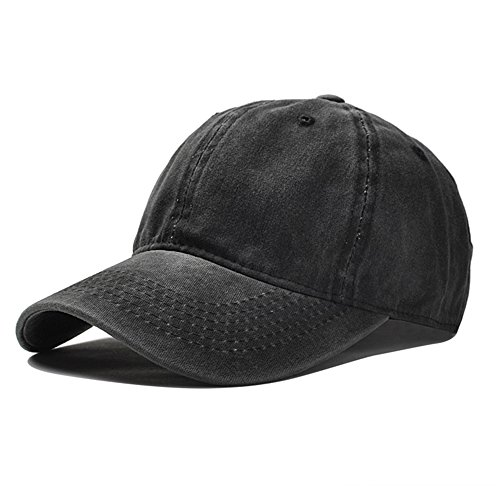 Vapelas Baseball Cap Athletic Fitted Unisex Adjustable Washed Cotton Ball Hat for Man and Woman ()