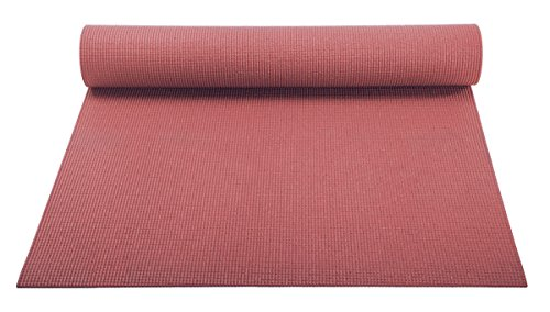 YogaAccessories 1/8'' Lightweight Classic Yoga Mat and Exercise Pad (Dusty (Cedar Mats)